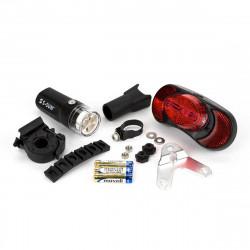 Brompton kit éclairage LED avant et arrière à piles (QVBATLAMSET)