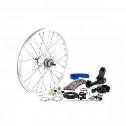 Brompton kit changement de 3 à 6 vitesses BWR SA sans câbles (QDRRETSET3-6BWR)