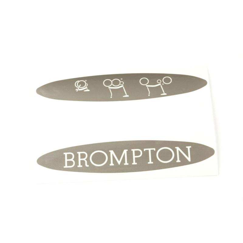 Sticker Brompton modèle titane (QDECALTI)