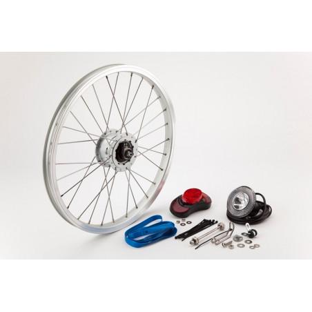 Brompton kit complet hub-dynamo Shimano (QVHDYNSET-SHMNO)