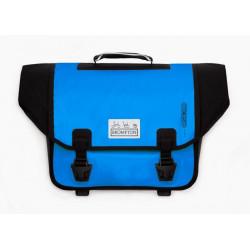 Sacoche Brompton Set O-Bag 20L bleu arctique et noir bagage avant Ortlieb avec bloc de fixation (QOB-AB)