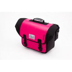 Sacoche Brompton Set O-Bag 20L rose et noir bagage avant Ortlieb avec bloc de fixation (QOB-PK)