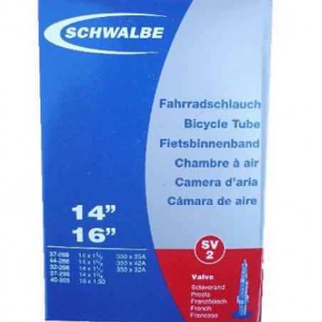 Schwalbe Chambre à air vélo 350 A 14 x 1 3/8 SV2 Valve presta