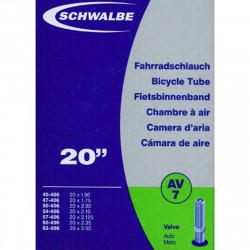 Schwalbe Chambre à air vélo 20 X 1,50 2,50 AV7 valve Schrader
