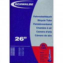 Schwalbe Chambre à air vélo 26 X 1,00 1,50 SV12A valve Presta