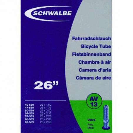 Schwalbe Chambre à air vélo 26 X 1,50 - 2,50 - AV13 valve Schrader