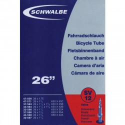 Schwalbe Chambre à air vélo 26 x 1 1/8 1.75 (650 A + B) SV12 valve Presta