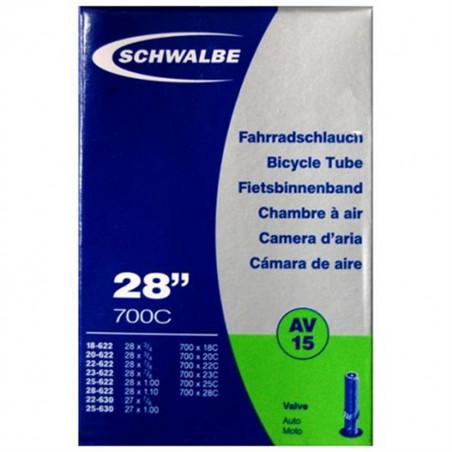 Schwalbe Chambre à air vélo 700 x 18 28C AV15 valve Schrader