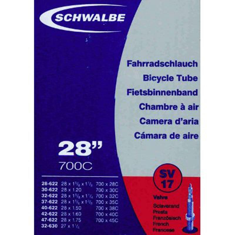 Schwalbe Chambre à air vélo 700 x 28 45 B+C SV17