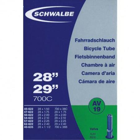 Schwalbe Chambre à air vélo 700 x 38 60 B+C AV19