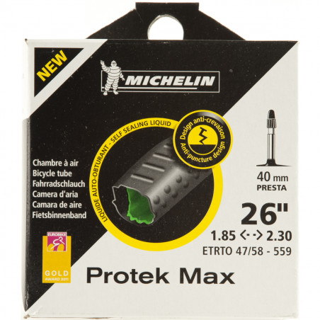 Michelin Chambre à air vélo Protek max 26 x 1.85 2.30 VP