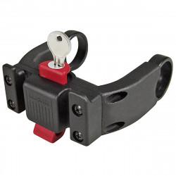 Klickfix Support guidon E avec serrure (compatible avec les affichages de VAE) 22 à 26 mm + Oversize 31.8 mm (0211EBL)