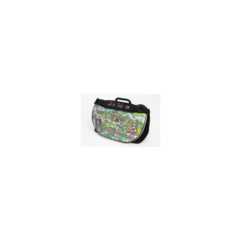 Sacoche Brompton Set S-Bag 20L avec couverture graphic avec bloc de fixation et housse de pluie (QSB2-GRAPHIC)