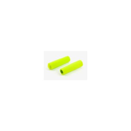 Paire de poignée Brompton en mousse vert citron pour guidon M ou H sans colle (QHBGRIP-M-LG)