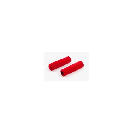 Paire de poignée Brompton en mousse rouge pour guidon M ou H sans colle (QHBGRIP-M-RD)