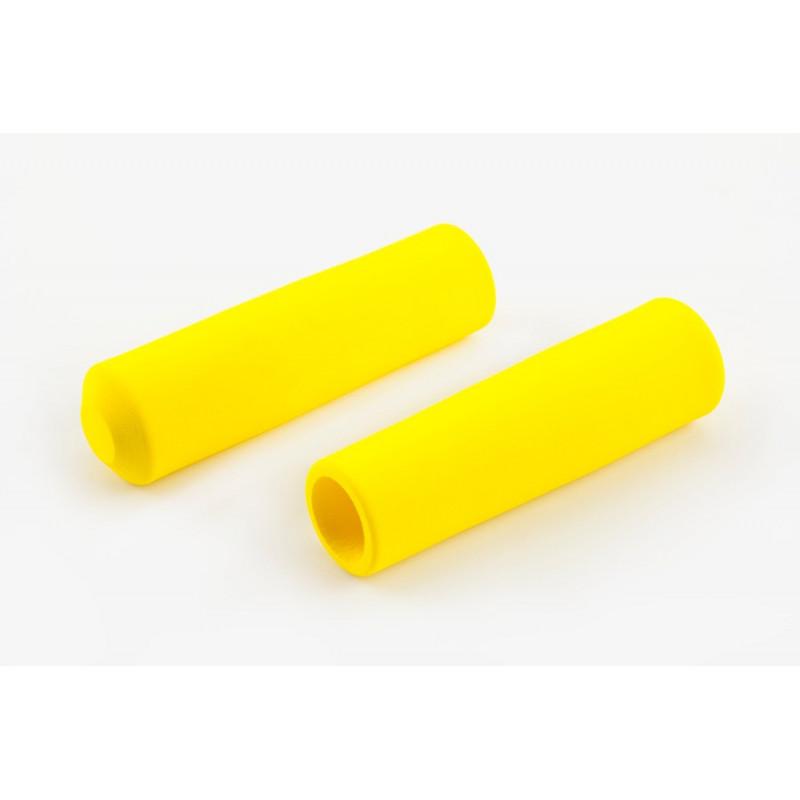 Paire de poignée Brompton en mousse jaune pour guidon M ou H sans colle (QHBGRIP-M-YE)