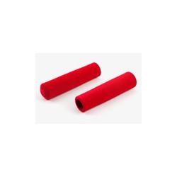 Paire de poignée Brompton en mousse rouge pour modèle S sans colle (QHBGRIP-S-RD)