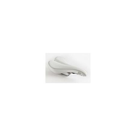 Selle standard Brompton Blanche sans pentaclip (QSADSTD-WH)