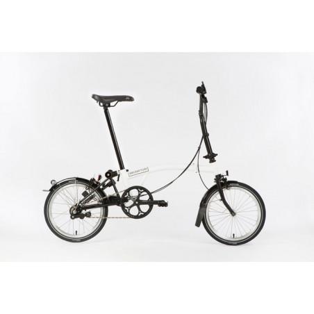 Vélo pliant Brompton Full Black Edition M6L couleur Blanc et Noir
