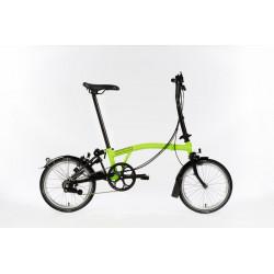 Vélo pliant Brompton M6L Full Black Edition couleur Vert Citron et Noir