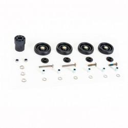 Paire de roulette standard pour R avec fixation et bouchon tube de selle - QROLSET-R