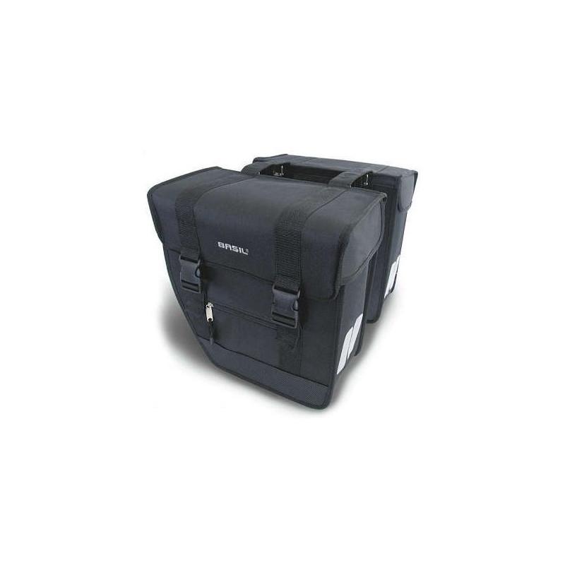 Sacoche vélo double Basil Tour XL 40L sur porte bagage