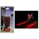 Eclairage vélo arrière laser et LED