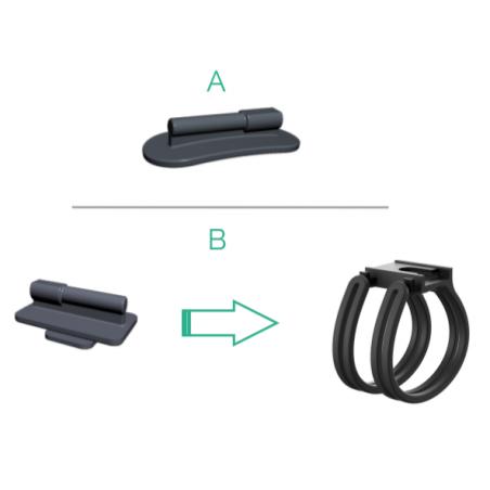 Fixation pour éclairage vélo arrière connecté COSMO CONNECTED