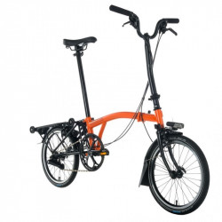 Vélo pliant BROMPTON M6R Full Black Edition / Orange
