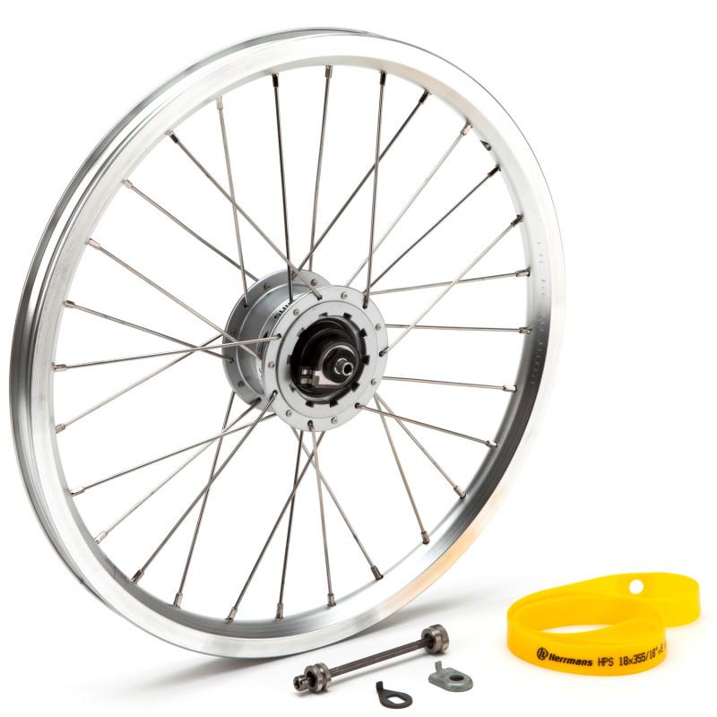Brompton - Front wheel Hub dynamo incl fittings - SV8 (Silver) (QFWHUBDYN-SV8-SV)