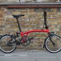 Vélo pliant BROMPTON Black Edition M6L Noir/Rouge