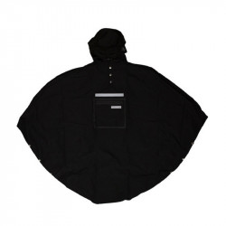 Poncho pluie urbain THE PEOPLE'S PONCHO 3.0 Noir
