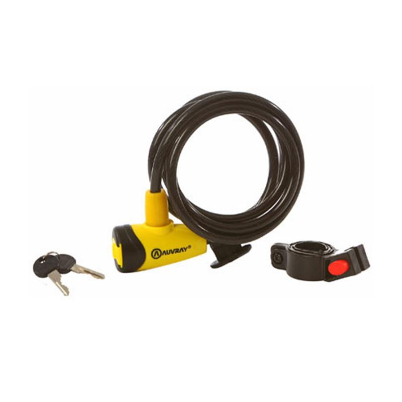 Antivol câble à clé AUVRAY 12x650mm