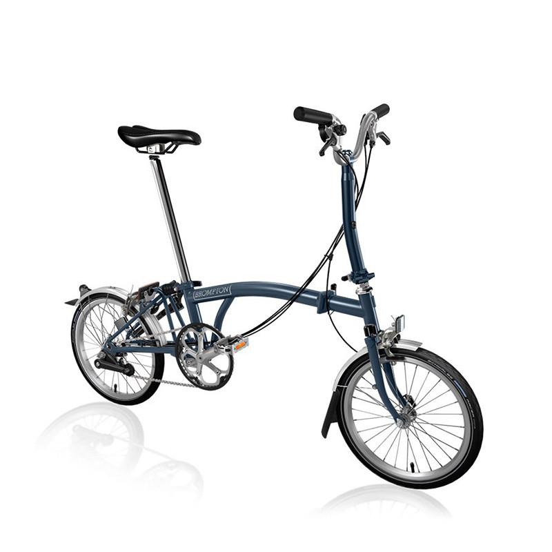 Vélo pliant BROMPTON M6L Tempest Blue M6LF/TM/TM/BAT3/FCB/REV