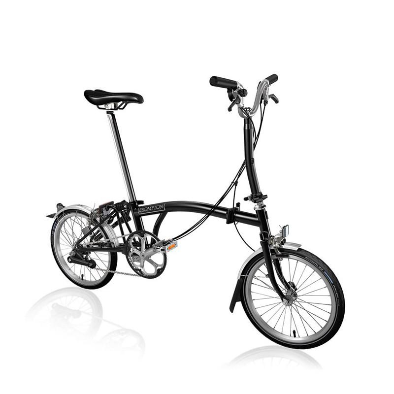 Vélo pliant BROMPTON M6L Black M6LF/BK/BK/BAT3/FCB/REV