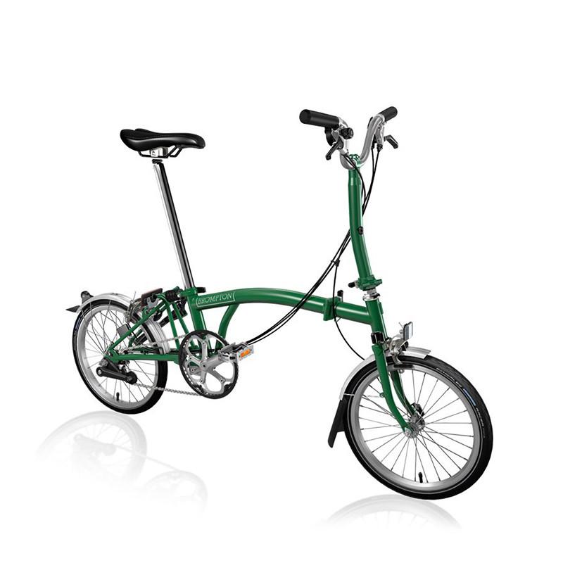 Vélo pliant BROMPTON M6L Racing Green M6LF/RG/RG/BAT3/FCB/REV