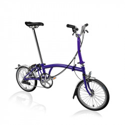 Vélo pliant BROMPTON M6L Purple Metallic M6LF/PM/PM/BAT3/FCB/REV