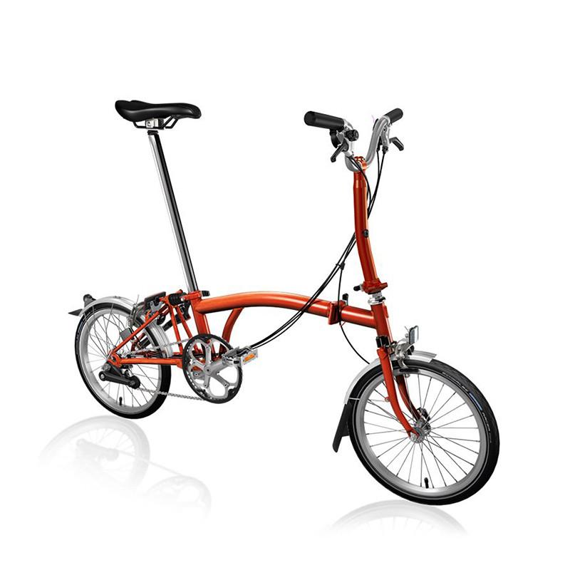 Vélo pliant BROMPTON M6L Flame Lacquer M6LF/FL/FL/BAT3/FCB/REV