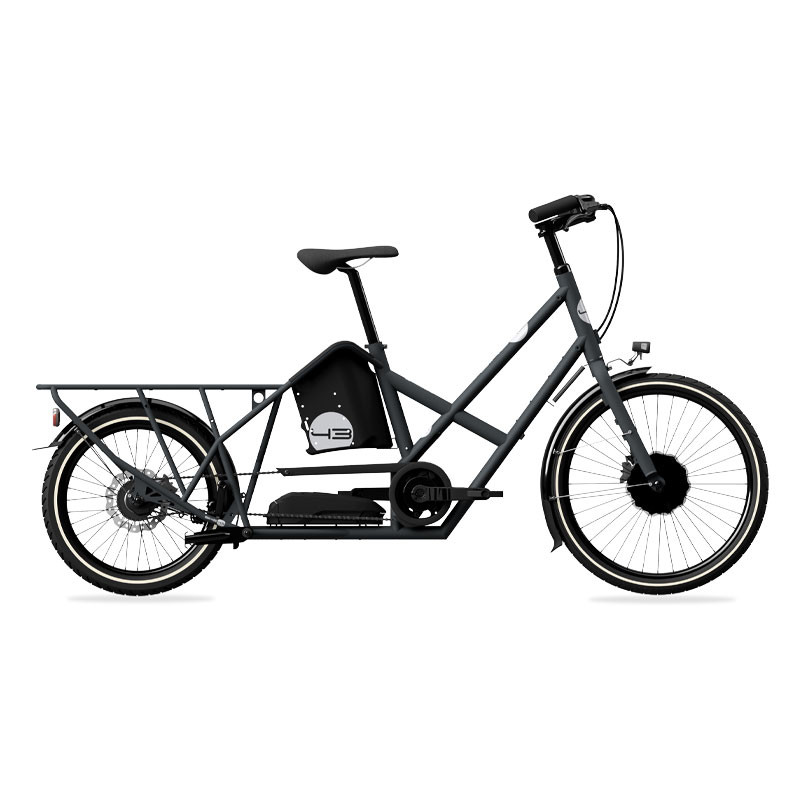 VéŽlo cargo éŽlectrique gris anthracite BIKE43 One