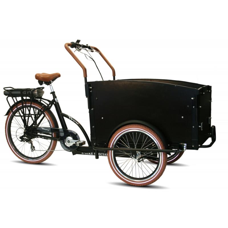 Vélo cargo électrique VOGUE Troy 2020 - Noir - TU/51 cm - 481 Wh
