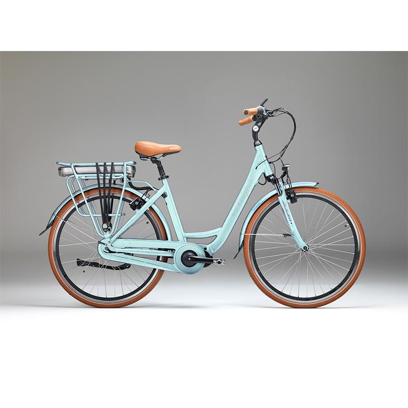 Vélo de ville électrique Beaufort Tavulia Bleu Celeste