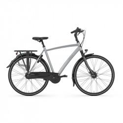 Vélo ville cadre haut GAZELLE Gris Clair Chamonix C7