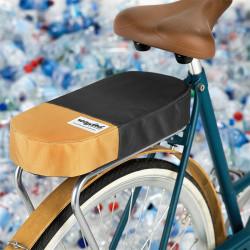 Coussin porte-bagage vélo tissu recyclé URBAN PROOF beige gris