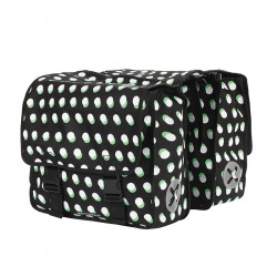 Paire sacoches vélo 40L URBAN PROOF dots noir