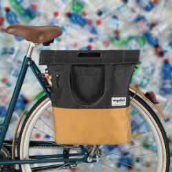 Sacoche vélo commuter shopping 20L URBAN PROOF beige gris