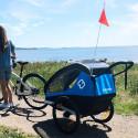 Remorque vélo poussette 1 enfant HAMAX Traveler Bleu