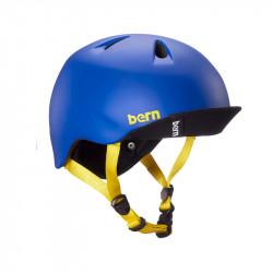 Casque vélo enfant BERN Nino bleu avec visière