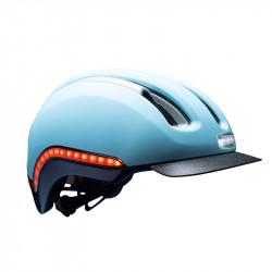 Casque vélo lumière intégrée Bleu Ciel NUTCASE Vio