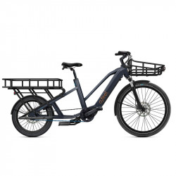Vélo cargo long tail électrique O2Feel Equo Power 7.1