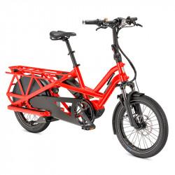Vélo cargo électrique longtail TERN GSD S10 Rouge Tabasco